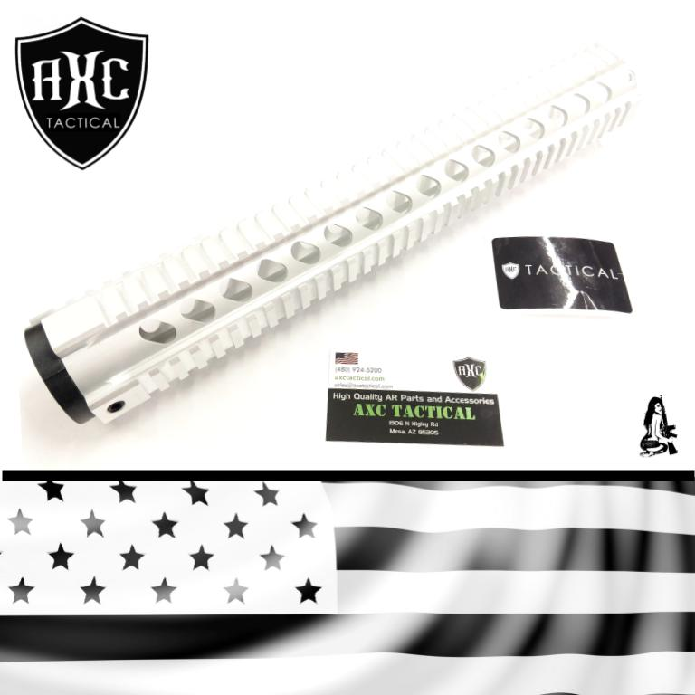 15″ Quad Rail in the Nude / Raw | AXC Tactical AR15 Parts and Accessories